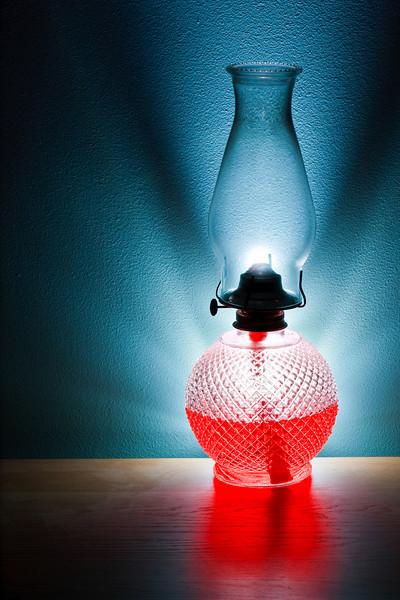 Lamp ablaze