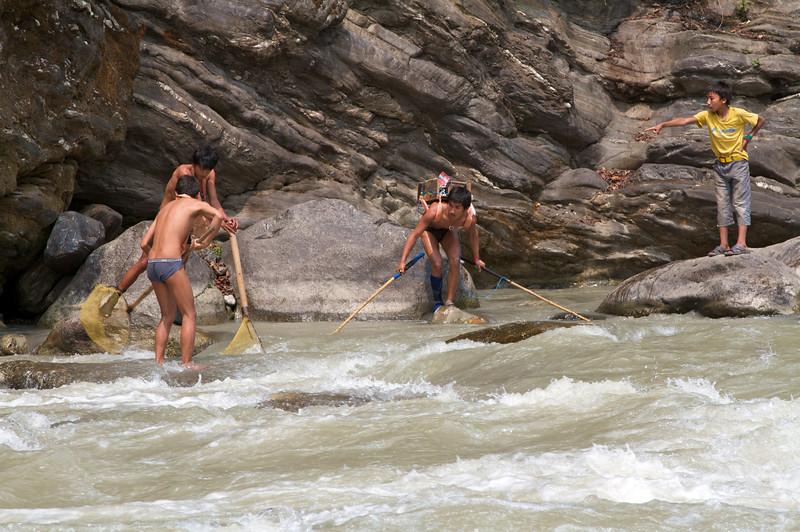 """Traditional"" Nepali fishing method"