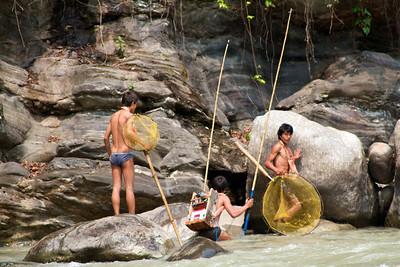 """Traditional"" Nepali fishing method"