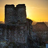 """Sunset over Levice Castle<br /> Photo by Roman Betik from the blog <a href=""""http://www.StillGlimmers.com/"""">http://www.StillGlimmers.com/</a>"""