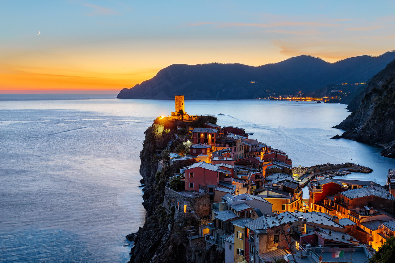 Orange Sunset in Vernazza