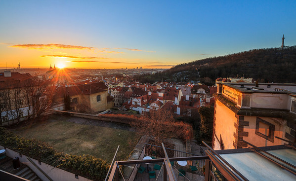 Sunrise from Prague Castle