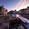 Violet Sunset in Ghent<br /> Violet Sunset in Ghent