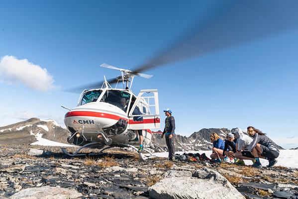 Mountain Running the Bugaboos, British Columbia 2019 for CMH Heli Shoot