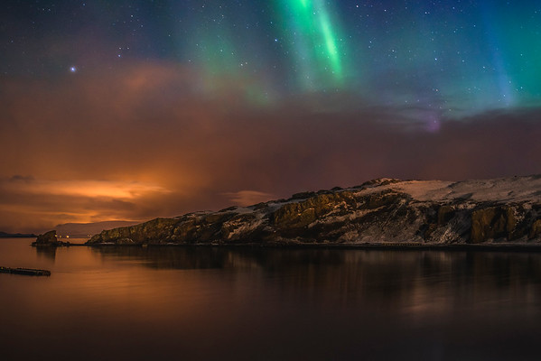 Northern Lights Over Rural Iceland 2015