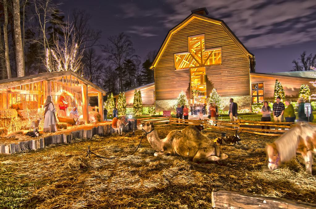 21st december 2013, charlotte, nc - christmas celebration at billy graham library