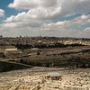 Panorama of the Temple Mount, including Al-Aqsa Mosque, and Dome of the Rock, from the Mount of Olives
