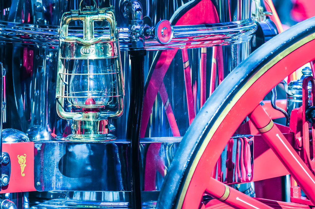 detail of old horse fire engine carriage