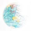 political globe map of australia isloated
