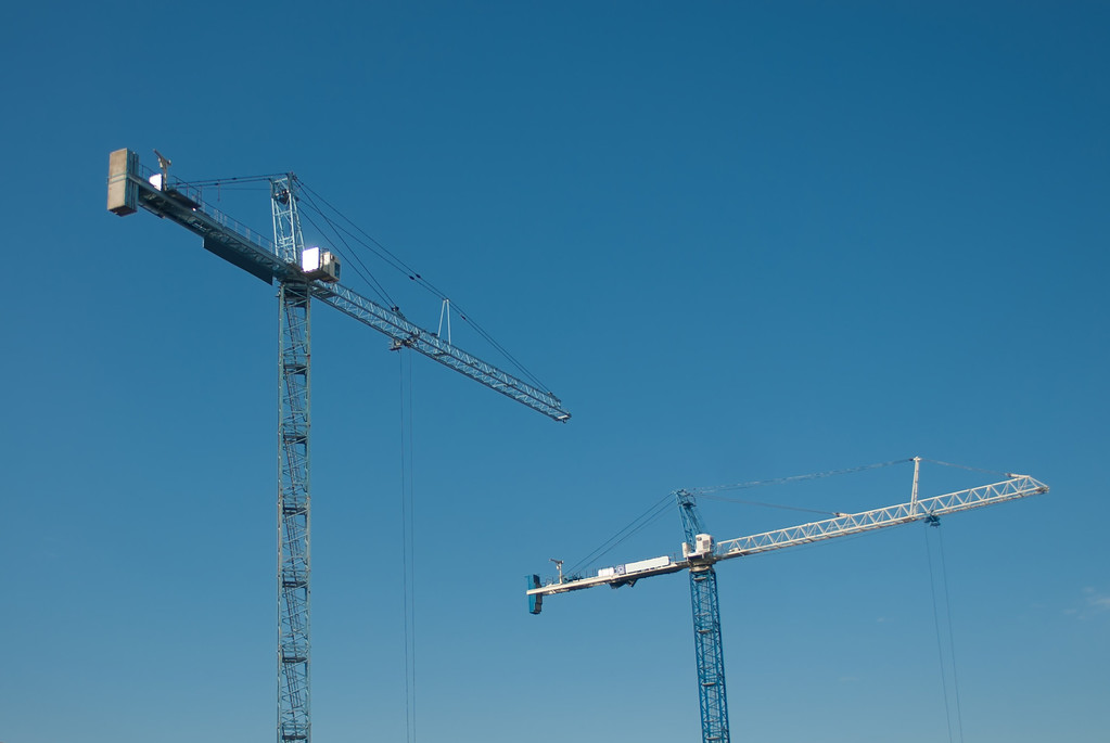 building construction crane