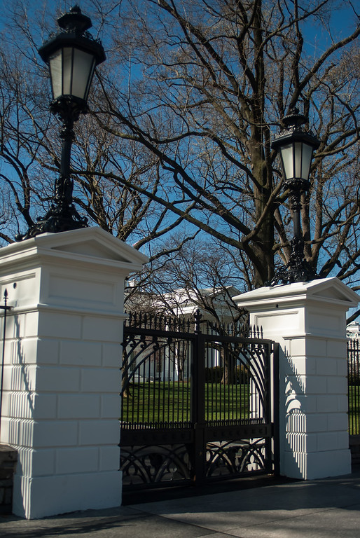The White House entrance gates