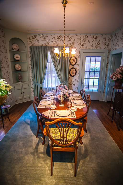 dining room and dinner table