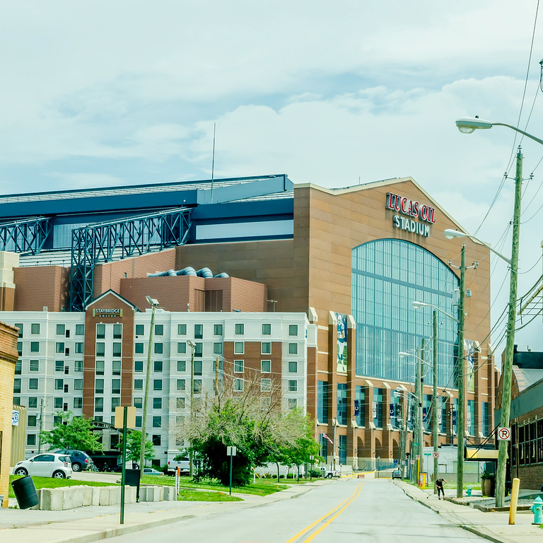 INDIANAPOLIS - June 21, 2014: Lucas Oil Stadium home of the Indianapolis Colts