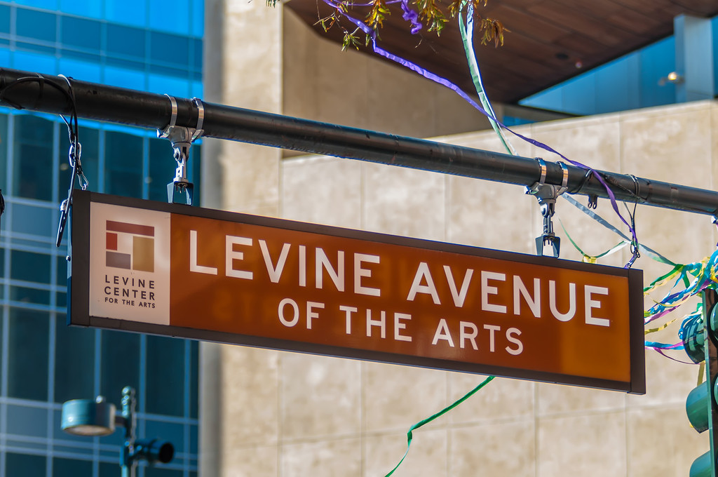 levine avenue of the arts street sign