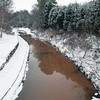 winter scene on the creek