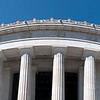 top portion of a lincoln memorial old greek architecture