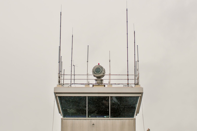 Top of the airport control tower