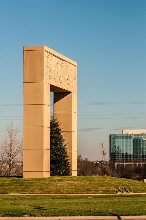monumental structural landmark statue in ballantyne nc