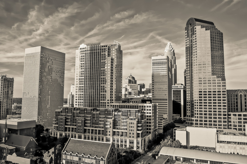 general view of Skyline of Uptown Charlotte