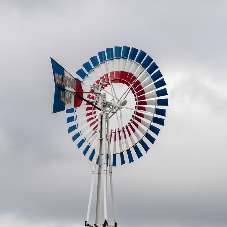 old classic windmill vane