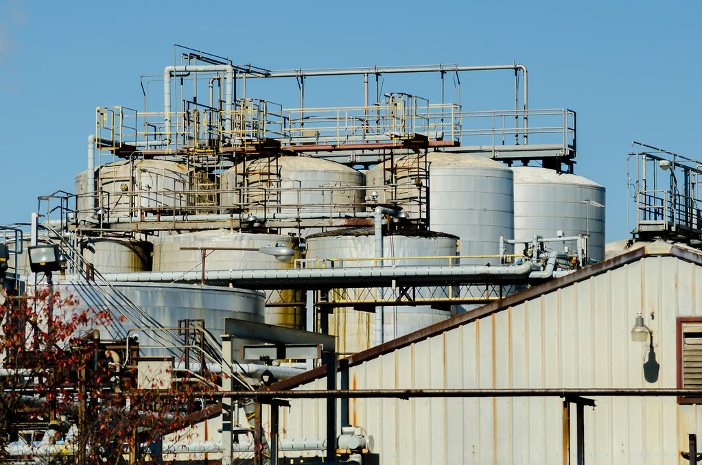 industrial plant on a sunny day