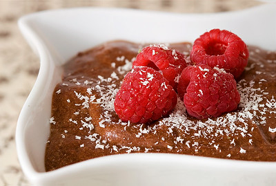 Chocolate Mousse with Rasberries