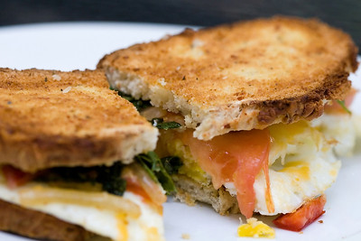 Egg Sandwich with Asiago Cheese Bread