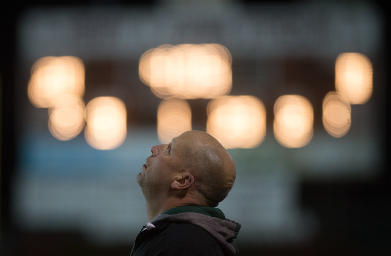 Dylan Buell | dylanphotog@gmail.com | @dylanphotog<br /> Western Hills head coach Don Miller looks to the heavens during the playoff game against Russell. They would lose 37-16.