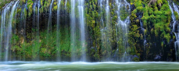"""EMERALD CASCADES""Mossbrae Falls, CaliforniaWater cascades down moss laden cliffs into the Sacramento River at a unique falls in Northern California.© Chris Moore - Exploring Light PhotographyPURCHASE A PRINT"
