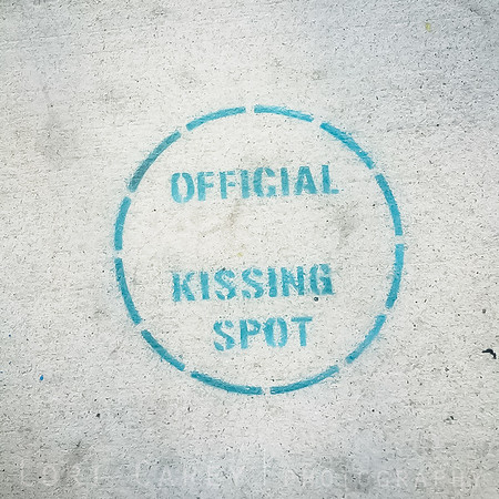 Official Kissing Spot, LA Arts District