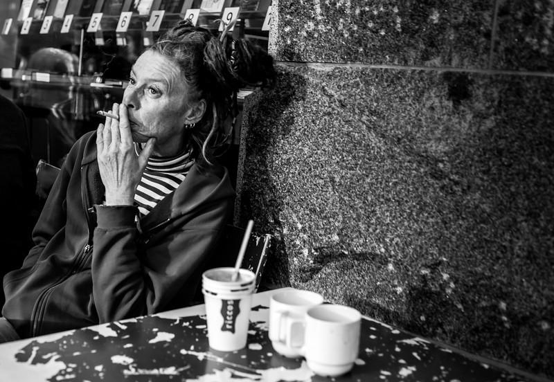 Woman on a Café