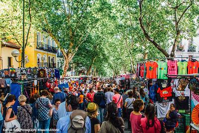 Shopping, The Rastro, Madrid, Spain