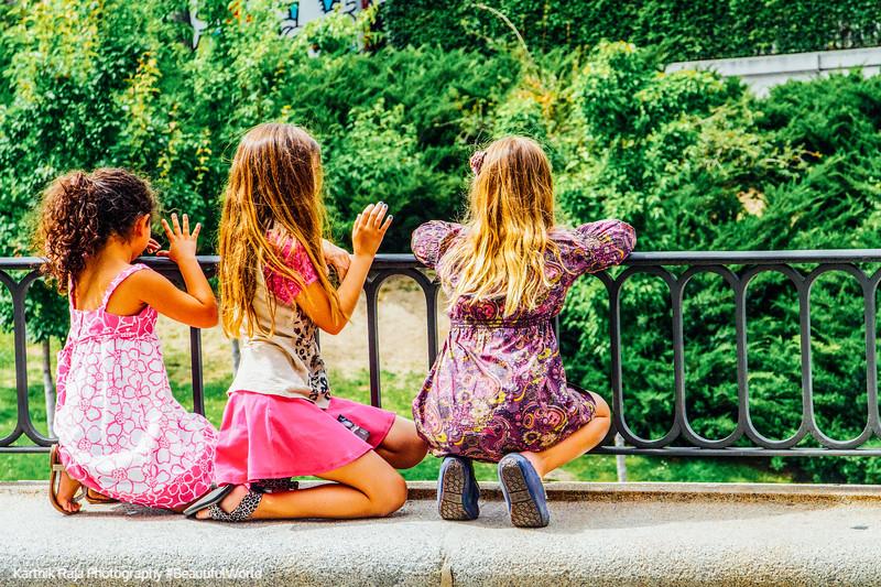 Three girls, Prado museum, Madrid, Spain
