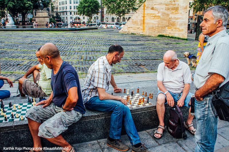 Chess at Placa de Catalunya, Barcelona, Spain