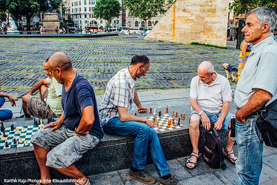 Chess at Placa de Catalunya, Barcelona, Spain