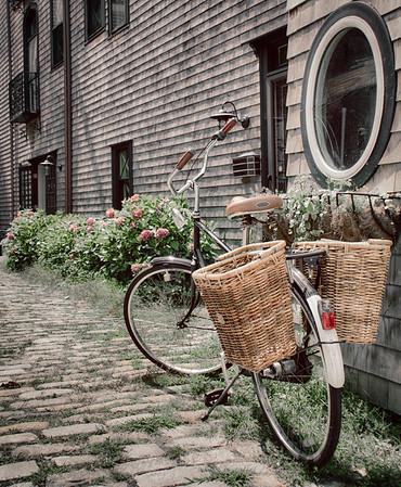 Bike with Baskets - Newport, RI