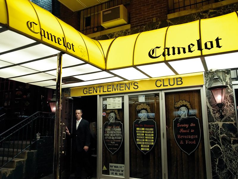 The front of Washington DC's number 2 night spot - the Camelot Gentlemen's Club.