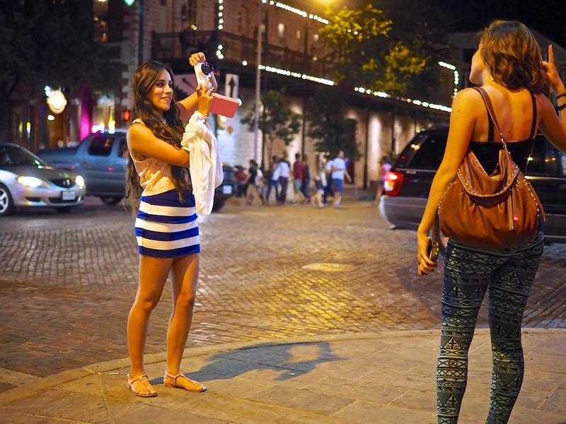 Posing for the Galaxy Camera, 6th Street - Austin, Texas