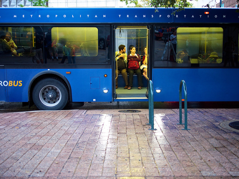 Open Door, Capital Metro Bus - Austin, Texas