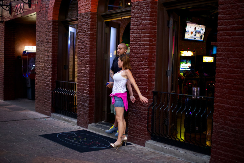 Waiting for Customers, 6th Street - Austin, Texas
