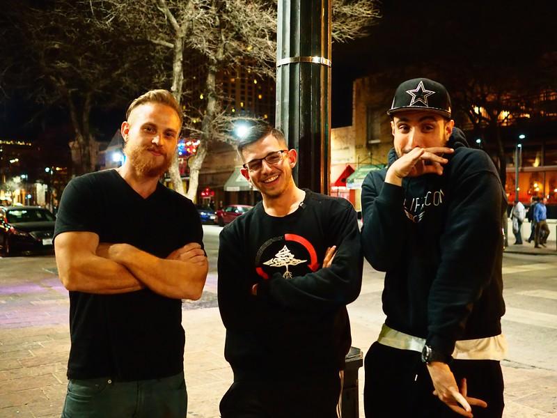 Three Guys on the Corner, 6th Street - Austin, Texas