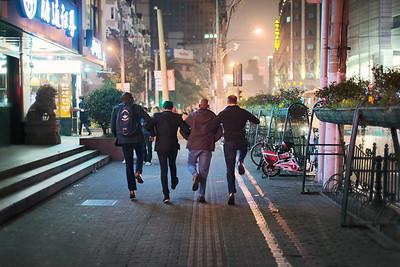 Fuzhou Rd revellers