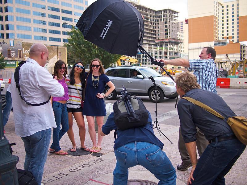 Lighten up and shoot, Congress Avenue - Austin, Texas