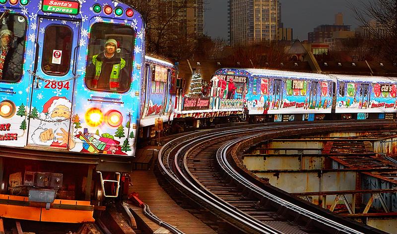CTA Holiday Train, Chicago, 2014