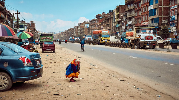 Waiting for the next bus to Kathmandu