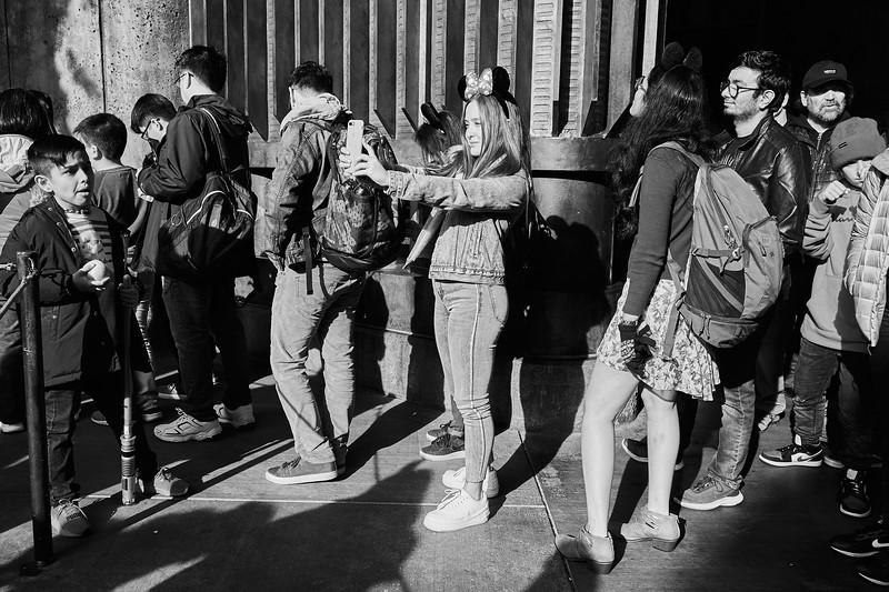 Selfie in the Waiting Line, Disneyland - Anaheim, California