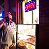 Jeff with his big Canon, 6th Street - Austin, Texas