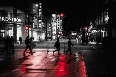 Random People in Night Scenes