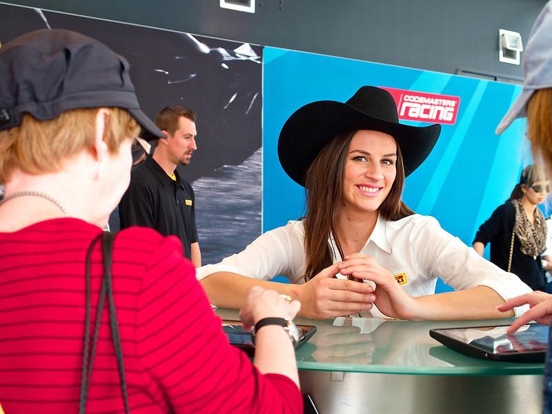 Nadia at Pirelli, Austin Fan Fest 2012 - Austin, Texas