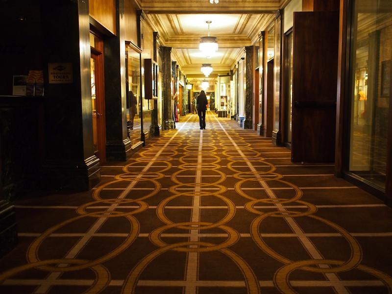 The long moody corridor, Westin St. Francis - San Francisco, California